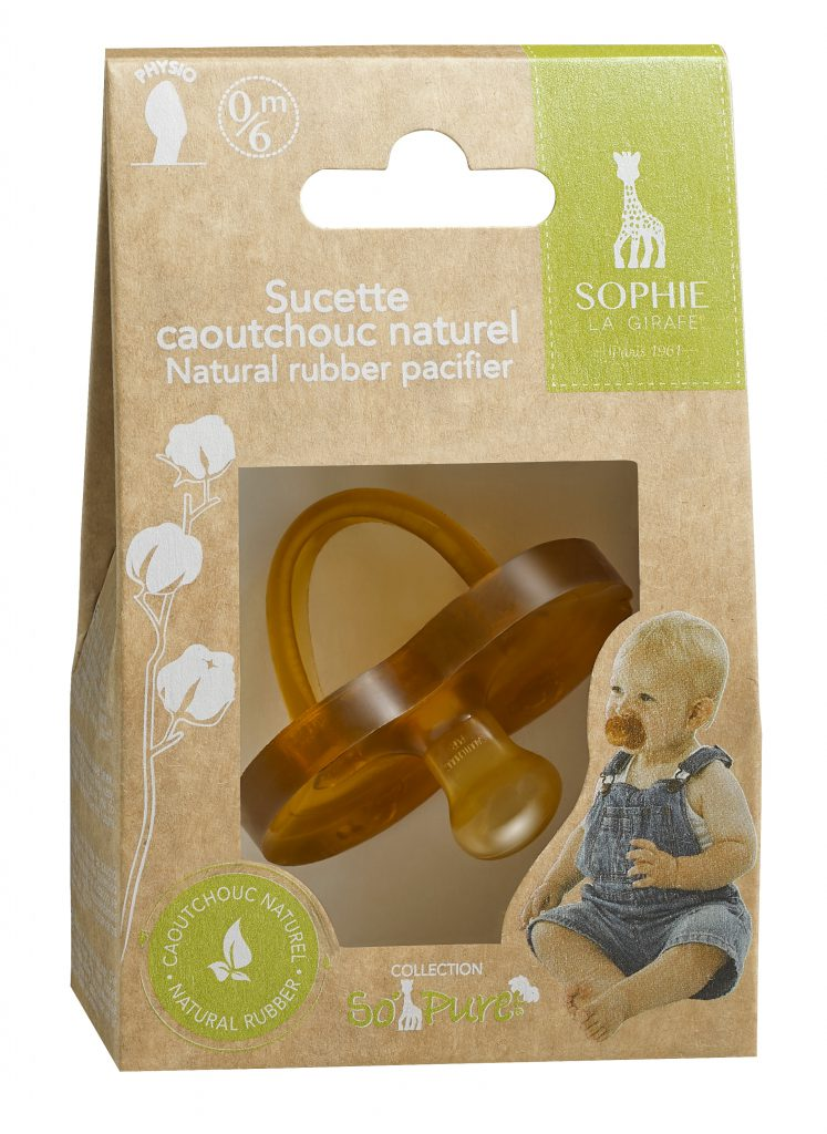 220127 - So'pure Natural rubber pacifier 0-6 months pack
